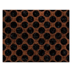 Circles2 Black Marble & Dull Brown Leather Rectangular Jigsaw Puzzl by trendistuff