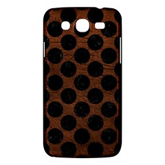 Circles2 Black Marble & Dull Brown Leather Samsung Galaxy Mega 5 8 I9152 Hardshell Case  by trendistuff