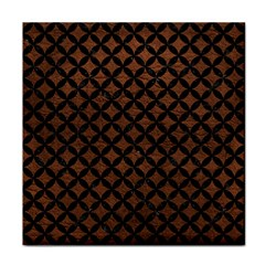 Circles3 Black Marble & Dull Brown Leather Tile Coasters by trendistuff