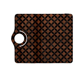 Circles3 Black Marble & Dull Brown Leather Kindle Fire Hdx 8 9  Flip 360 Case by trendistuff
