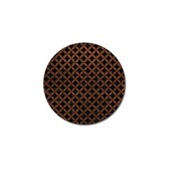 Circles3 Black Marble & Dull Brown Leather (r) Golf Ball Marker (10 Pack) by trendistuff