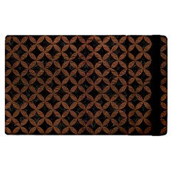 Circles3 Black Marble & Dull Brown Leather (r) Apple Ipad 3/4 Flip Case by trendistuff