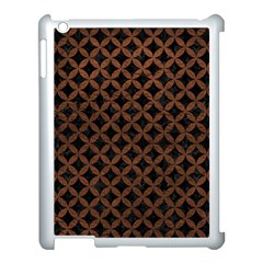 Circles3 Black Marble & Dull Brown Leather (r) Apple Ipad 3/4 Case (white) by trendistuff