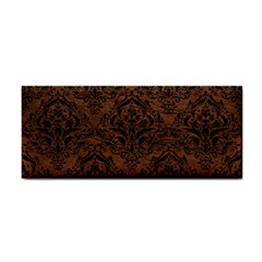 Damask1 Black Marble & Dull Brown Leather Cosmetic Storage Cases by trendistuff