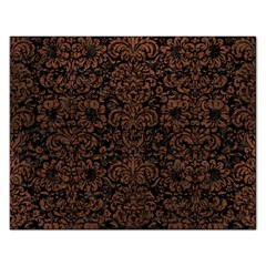 Damask2 Black Marble & Dull Brown Leather (r) Rectangular Jigsaw Puzzl by trendistuff