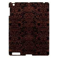 Damask2 Black Marble & Dull Brown Leather (r) Apple Ipad 3/4 Hardshell Case by trendistuff