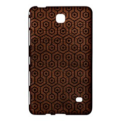 Hexagon1 Black Marble & Dull Brown Leather Samsung Galaxy Tab 4 (8 ) Hardshell Case  by trendistuff