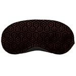 HEXAGON1 BLACK MARBLE & DULL BROWN LEATHER (R) Sleeping Masks Front