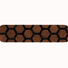 Hexagon2 Black Marble & Dull Brown Leather Large Bar Mats by trendistuff
