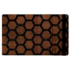 Hexagon2 Black Marble & Dull Brown Leather Apple Ipad Pro 9 7   Flip Case by trendistuff