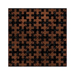 Puzzle1 Black Marble & Dull Brown Leather Acrylic Tangram Puzzle (6  X 6 ) by trendistuff