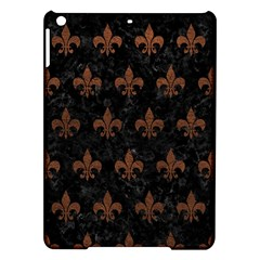 Royal1 Black Marble & Dull Brown Leather Ipad Air Hardshell Cases