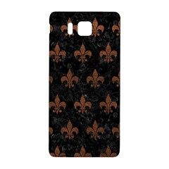 Royal1 Black Marble & Dull Brown Leather Samsung Galaxy Alpha Hardshell Back Case by trendistuff
