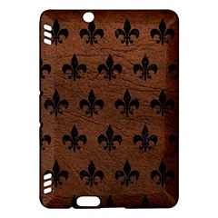 Royal1 Black Marble & Dull Brown Leather (r) Kindle Fire Hdx Hardshell Case by trendistuff