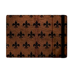 Royal1 Black Marble & Dull Brown Leather (r) Ipad Mini 2 Flip Cases by trendistuff