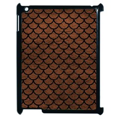 Scales1 Black Marble & Dull Brown Leather Apple Ipad 2 Case (black) by trendistuff