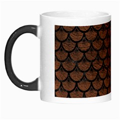 Scales3 Black Marble & Dull Brown Leather Morph Mugs by trendistuff