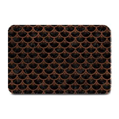 Scales3 Black Marble & Dull Brown Leather (r) Plate Mats by trendistuff