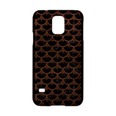 Scales3 Black Marble & Dull Brown Leather (r) Samsung Galaxy S5 Hardshell Case  by trendistuff