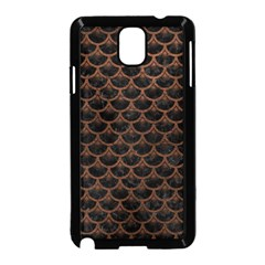 Scales3 Black Marble & Dull Brown Leather (r) Samsung Galaxy Note 3 Neo Hardshell Case (black) by trendistuff