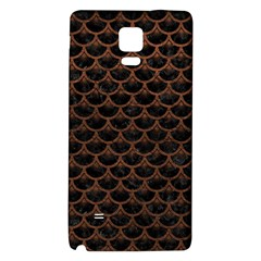 Scales3 Black Marble & Dull Brown Leather (r) Galaxy Note 4 Back Case by trendistuff