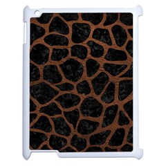 Skin1 Black Marble & Dull Brown Leather Apple Ipad 2 Case (white) by trendistuff