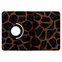 Skin1 Black Marble & Dull Brown Leather Kindle Fire Hdx Flip 360 Case by trendistuff