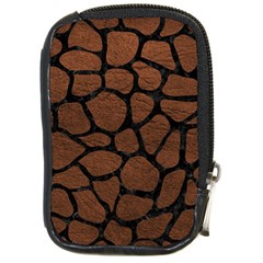 Skin1 Black Marble & Dull Brown Leather (r) Compact Camera Cases by trendistuff