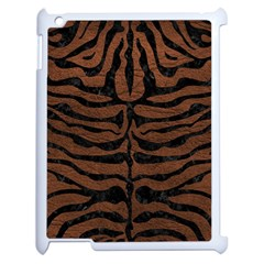 Skin2 Black Marble & Dull Brown Leather Apple Ipad 2 Case (white) by trendistuff