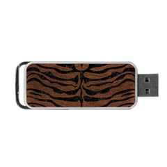 Skin2 Black Marble & Dull Brown Leather Portable Usb Flash (two Sides) by trendistuff