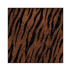 Skin3 Black Marble & Dull Brown Leather Acrylic Tangram Puzzle (6  X 6 ) by trendistuff