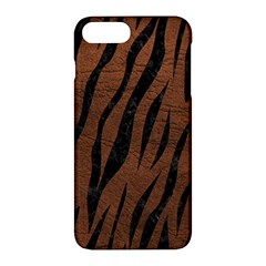 Skin3 Black Marble & Dull Brown Leather Apple Iphone 7 Plus Hardshell Case by trendistuff