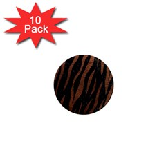 Skin3 Black Marble & Dull Brown Leather (r) 1  Mini Magnet (10 Pack)  by trendistuff