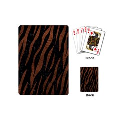 Skin3 Black Marble & Dull Brown Leather (r) Playing Cards (mini)  by trendistuff