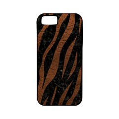 Skin3 Black Marble & Dull Brown Leather (r) Apple Iphone 5 Classic Hardshell Case (pc+silicone) by trendistuff