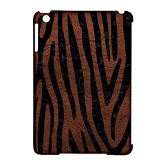 Skin4 Black Marble & Dull Brown Leather (r) Apple Ipad Mini Hardshell Case (compatible With Smart Cover) by trendistuff