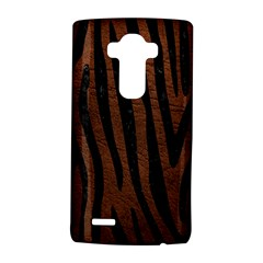 Skin4 Black Marble & Dull Brown Leather (r) Lg G4 Hardshell Case by trendistuff