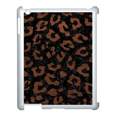 Skin5 Black Marble & Dull Brown Leather Apple Ipad 3/4 Case (white) by trendistuff