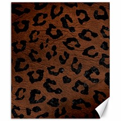 Skin5 Black Marble & Dull Brown Leather (r) Canvas 20  X 24   by trendistuff