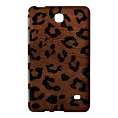 Skin5 Black Marble & Dull Brown Leather (r) Samsung Galaxy Tab 4 (8 ) Hardshell Case  by trendistuff