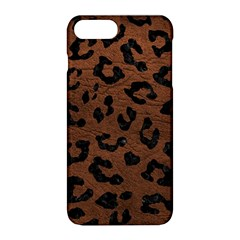 Skin5 Black Marble & Dull Brown Leather (r) Apple Iphone 8 Plus Hardshell Case