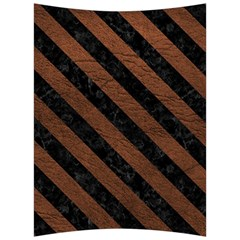 Stripes3 Black Marble & Dull Brown Leather Back Support Cushion by trendistuff