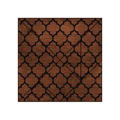 Tile1 Black Marble & Dull Brown Leather Acrylic Tangram Puzzle (4  X 4 ) by trendistuff