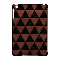 Triangle3 Black Marble & Dull Brown Leather Apple Ipad Mini Hardshell Case (compatible With Smart Cover) by trendistuff