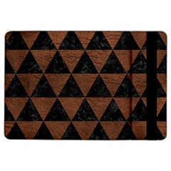 Triangle3 Black Marble & Dull Brown Leather Ipad Air 2 Flip by trendistuff