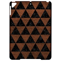 Triangle3 Black Marble & Dull Brown Leather Apple Ipad Pro 9 7   Hardshell Case by trendistuff