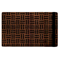 Woven1 Black Marble & Dull Brown Leather Apple Ipad 3/4 Flip Case by trendistuff