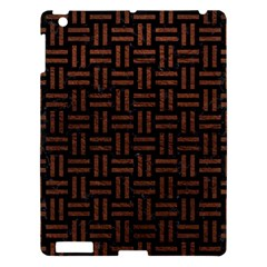Woven1 Black Marble & Dull Brown Leather (r) Apple Ipad 3/4 Hardshell Case by trendistuff