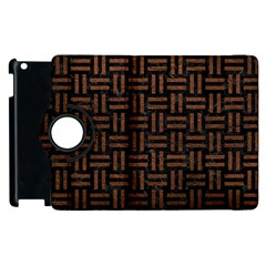 Woven1 Black Marble & Dull Brown Leather (r) Apple Ipad 2 Flip 360 Case by trendistuff