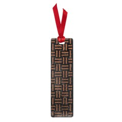 Woven1 Black Marble & Dull Brown Leather (r) Small Book Marks by trendistuff